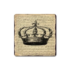 Vintage Music Sheet Crown Song Square Magnet by AnjaniArt