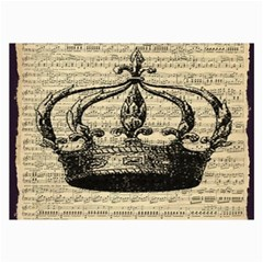 Vintage Music Sheet Crown Song Collage Prints