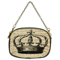 Vintage Music Sheet Crown Song Chain Purses (one Side)  by AnjaniArt