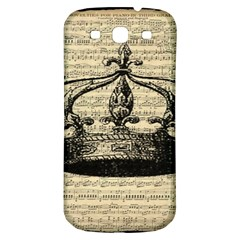 Vintage Music Sheet Crown Song Samsung Galaxy S3 S Iii Classic Hardshell Back Case by AnjaniArt