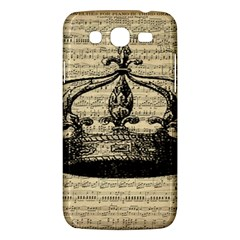 Vintage Music Sheet Crown Song Samsung Galaxy Mega 5 8 I9152 Hardshell Case  by AnjaniArt