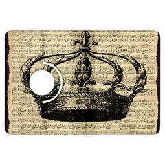 Vintage Music Sheet Crown Song Kindle Fire Hdx Flip 360 Case by AnjaniArt