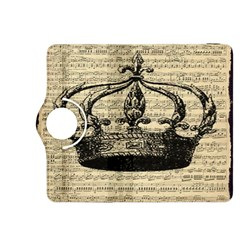 Vintage Music Sheet Crown Song Kindle Fire Hdx 8 9  Flip 360 Case by AnjaniArt