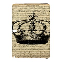 Vintage Music Sheet Crown Song Samsung Galaxy Tab Pro 12 2 Hardshell Case by AnjaniArt