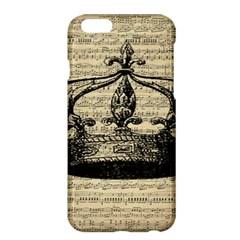 Vintage Music Sheet Crown Song Apple Iphone 6 Plus/6s Plus Hardshell Case by AnjaniArt