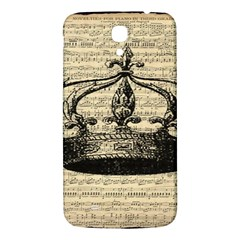 Vintage Music Sheet Crown Song Samsung Galaxy Mega I9200 Hardshell Back Case by AnjaniArt