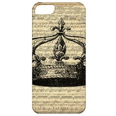 Vintage Music Sheet Crown Song Apple Iphone 5 Classic Hardshell Case by AnjaniArt