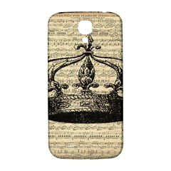 Vintage Music Sheet Crown Song Samsung Galaxy S4 I9500/i9505  Hardshell Back Case by AnjaniArt