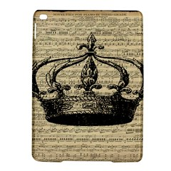Vintage Music Sheet Crown Song Ipad Air 2 Hardshell Cases by AnjaniArt