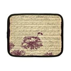 Vintage Music Sheet Song Musical Netbook Case (small)  by AnjaniArt