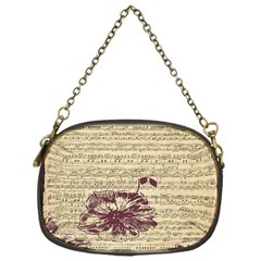 Vintage Music Sheet Song Musical Chain Purses (one Side)  by AnjaniArt