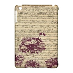 Vintage Music Sheet Song Musical Apple Ipad Mini Hardshell Case (compatible With Smart Cover) by AnjaniArt