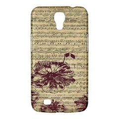 Vintage Music Sheet Song Musical Samsung Galaxy Mega 6 3  I9200 Hardshell Case by AnjaniArt