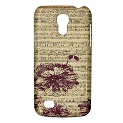 Vintage Music Sheet Song Musical Galaxy S4 Mini by AnjaniArt