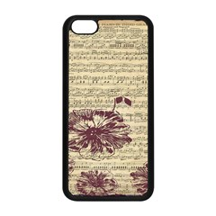 Vintage Music Sheet Song Musical Apple Iphone 5c Seamless Case (black) by AnjaniArt