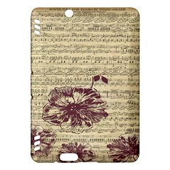 Vintage Music Sheet Song Musical Kindle Fire Hdx Hardshell Case by AnjaniArt