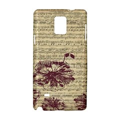 Vintage Music Sheet Song Musical Samsung Galaxy Note 4 Hardshell Case by AnjaniArt