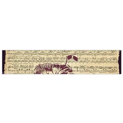 Vintage Music Sheet Song Musical Flano Scarf (small) by AnjaniArt