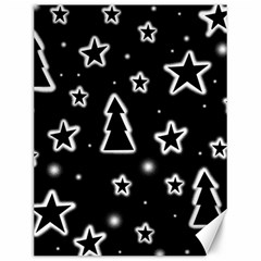 Black And White Xmas Canvas 12  X 16   by Valentinaart