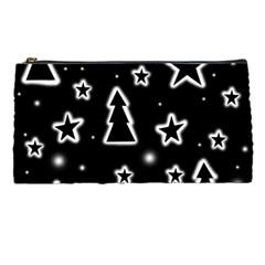 Black And White Xmas Pencil Cases by Valentinaart