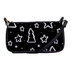 Black And White Xmas Shoulder Clutch Bags by Valentinaart