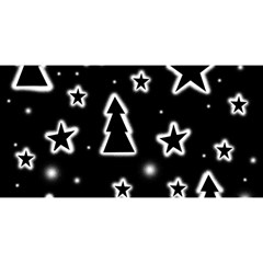 Black And White Xmas You Are Invited 3d Greeting Card (8x4)
