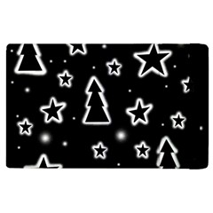 Black And White Xmas Apple Ipad 3/4 Flip Case by Valentinaart