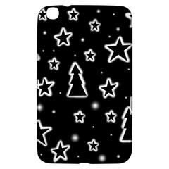 Black And White Xmas Samsung Galaxy Tab 3 (8 ) T3100 Hardshell Case  by Valentinaart
