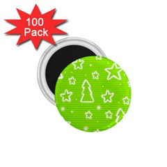 Green Christmas 1 75  Magnets (100 Pack)  by Valentinaart