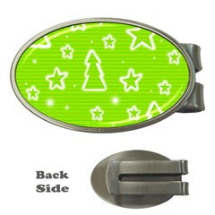Green Christmas Money Clips (oval)  by Valentinaart