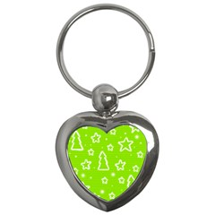 Green Christmas Key Chains (heart)  by Valentinaart