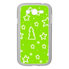 Green Christmas Samsung Galaxy Grand Duos I9082 Case (white) by Valentinaart