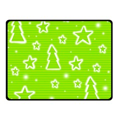 Green Christmas Double Sided Fleece Blanket (small)  by Valentinaart