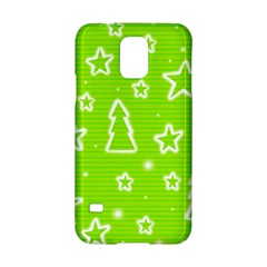 Green Christmas Samsung Galaxy S5 Hardshell Case  by Valentinaart
