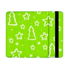 Green Christmas Samsung Galaxy Tab Pro 8.4  Flip Case by Valentinaart