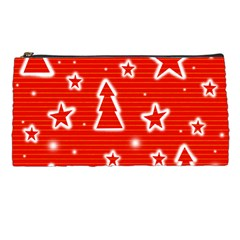 Red Xmas Pencil Cases by Valentinaart