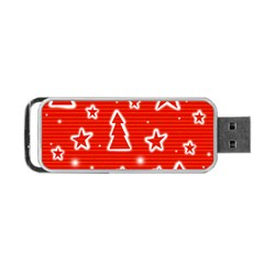 Red Xmas Portable Usb Flash (one Side) by Valentinaart