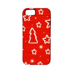 Red Xmas Apple Iphone 5 Classic Hardshell Case (pc+silicone)