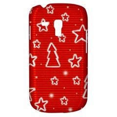 Red Xmas Samsung Galaxy S3 Mini I8190 Hardshell Case by Valentinaart