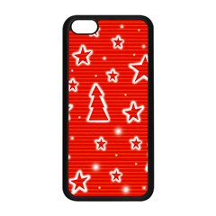 Red Xmas Apple Iphone 5c Seamless Case (black) by Valentinaart