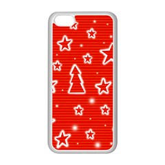 Red Xmas Apple Iphone 5c Seamless Case (white) by Valentinaart