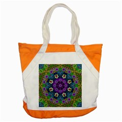 Colors And Flowers In A Mandala Accent Tote Bag by pepitasart