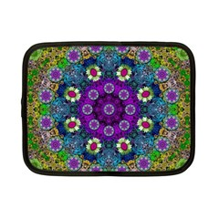 Colors And Flowers In A Mandala Netbook Case (small)  by pepitasart