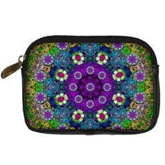 Colors And Flowers In A Mandala Digital Camera Cases by pepitasart
