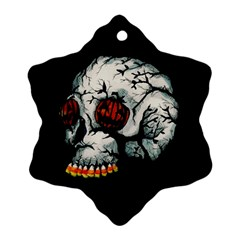 Halloween Skull Ornament (Snowflake)  by lvbart