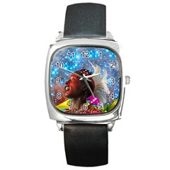 African Star Dreamer Square Metal Watch by icarusismartdesigns