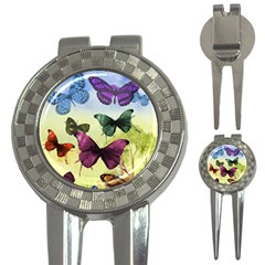 Butterfly Painting Art Graphic 3-in-1 Golf Divots by Zeze
