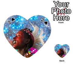 African Star Dreamer Playing Cards 54 (heart)  by icarusismartdesigns
