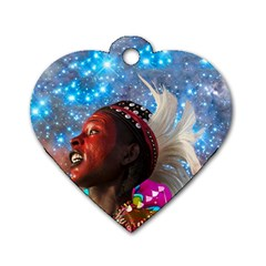 African Star Dreamer Dog Tag Heart (one Side) by icarusismartdesigns
