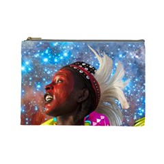 African Star Dreamer Cosmetic Bag (large)  by icarusismartdesigns